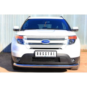 Руссталь FEZ-001308 защита переднего бампера d76 (секции) на Ford Explorer 2012-