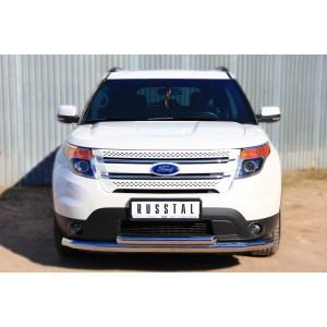 Руссталь FEZ-001309 защита переднего бампера d76 (секции) d63 (дуга) на Ford Explorer 2012-