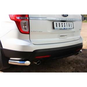 Руссталь FEZ-001316 защита заднего бампера уголки d76 (секции) на Ford Explorer 2012-