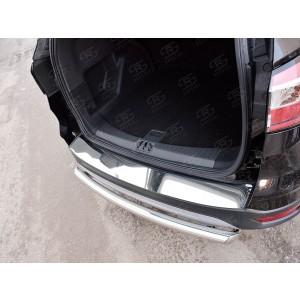 Руссталь FGN-002607 накладка на задний бампер (лист нерж зеркальный) на Ford Kuga 2016-