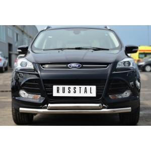 Руссталь FGZ-001377 защита переднего бампера d63 (секции) d63 (дуга) на Ford Kuga 2013-