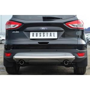 Руссталь FGZ-001383 защита заднего бампера d63 (дуга) на Ford Kuga 2013-