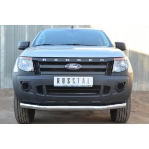 Руссталь FRZ-001295 защита переднего бампера d76 (секции) на Ford Ranger 2011-