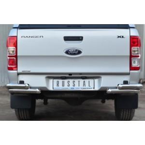 Руссталь FRZ-001301 защита заднего бампера уголки d63 (секции) d63 (секции) на Ford Ranger 2011-