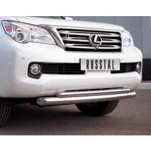 Руссталь GXZ-000802 защита переднего бампера d76/42 на Lexus GX460 2009-2012