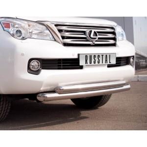 Руссталь GXZ-000803 защита переднего бампера d76/63 на Lexus GX460 2009-2012