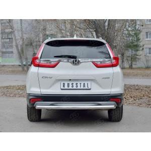 Руссталь HCRZ-002834 защита заднего бампера d63 дуга на Honda CR-V 2017-