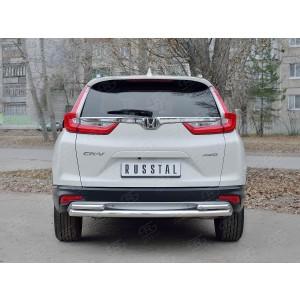 Руссталь HCRZ-002835 защита заднего бампера d63 дуга d42 дуги на Honda CR-V 2017-