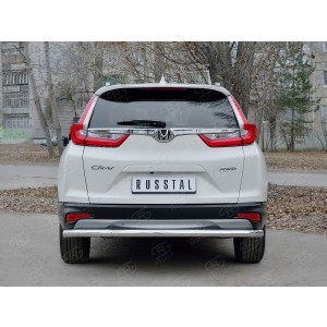 Руссталь HCRZ-002836 защита заднего бампера d63 секции на Honda CR-V 2017-