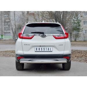 Руссталь HCRZ-002837 защита заднего бампера d75х42 дуга на Honda CR-V 2017-