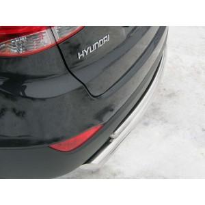 Руссталь HIZ-000183 защита заднего бампера d63/42 на Hyundai IX 35 2010-2012