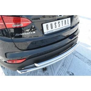 Руссталь HSFZ-001226 защита заднего бампера d63/63 (дуга) на Hyundai Santa Fe 2012-
