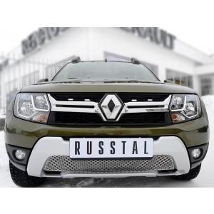 Руссталь RRRD15-001 решетка радиатора лист нерж на Renault Duster 2015