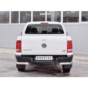 Руссталь VAMZ-002545 защита заднего бампера уголки d76 секции-d42 секции на Volkswagen Amarok 2016-