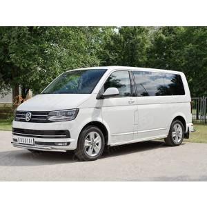 Руссталь VCTZ-002310 защита переднего бампера d42 секция на Volkswagen Multivan Caravella Transporter Т6 2016 (короткая база)