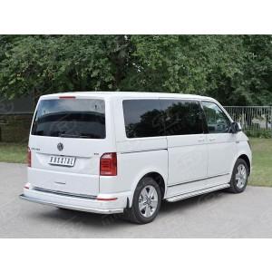 Руссталь VCTZ-002321 защита заднего бампера d63 секция на Volkswagen Multivan Caravella Transporter Т6 2016 (короткая база)