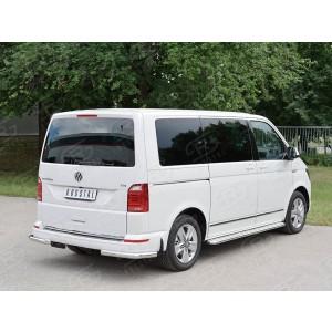 Руссталь VCTZ-002323 защита заднего бампера уголки d63 секция на Volkswagen Multivan Caravella Transporter Т6 2016 (короткая база)