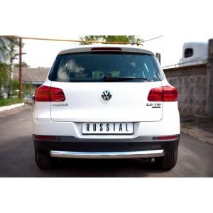 Руссталь VGZ-000498 защита заднего бампера d76 (дуга) на Volkswagen Tiguan Track & Field (Track & Style) 2011-