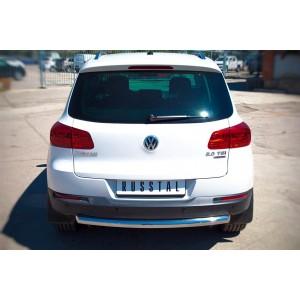 Руссталь VGZ-000985 защита заднего бампера d63 на Volkswagen Tiguan Sport & Style (Trend & Fun) 2011-