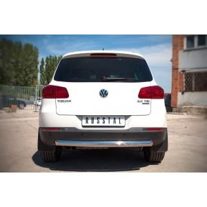 Руссталь VGZ-000986 защита заднего бампера d76 на Volkswagen Tiguan Sport & Style (Trend & Fun) 2011-