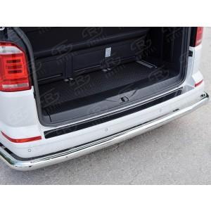 Руссталь VTCN-002342 накладка на задний бампер (лист нерж зеркальный) на Volkswagen Caravella Transporter T6 2016 (длинная База)