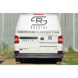 Руссталь VTKZ-001402 защита заднего бампера d63 (секции) d42 (уголки) на Volkswagen Multivan 2010-