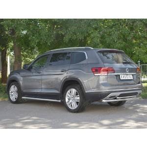 Руссталь VTMZ-003000 защита заднего бампера d63 дуга-d42 дуга на Volkswagen Teramont 2017-