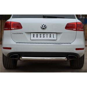 Руссталь VTZ-001074 защита заднего бампера d76 (дуга) на Volkswagen Touareg 2010-2013