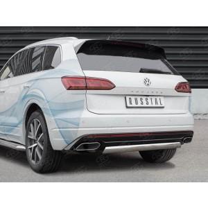 Руссталь VWTZ-003067 защита заднего бампера d75х42 дуга на Volkswagen Touareg 2018-