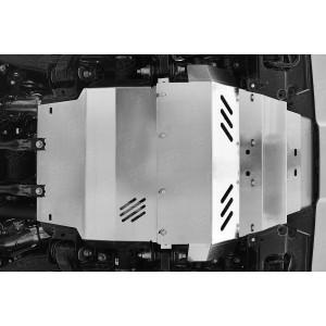 Руссталь ZKLLX15-001-2 защита радиатора, защита картера (комплект) на Lexus LX450d-LX570 2015 (кроме F-Sport)