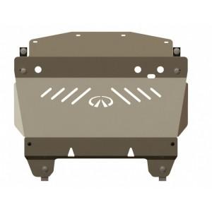 Защита картера алюминий 5 мм Шериф 15.1044 Infiniti Q70 (M35) 2006–