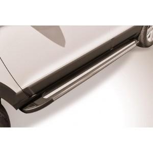 "Slitkoff AL-CHCap1303 пороги алюминиевые ""Luxe Black"" черные Chevrolet Captiva (2013)"