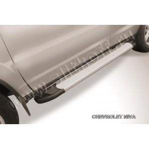 "Slitkoff AL-CHNB002 пороги алюминиевые ""Optima Silver"" Chevrolet Niva (Bertone)"