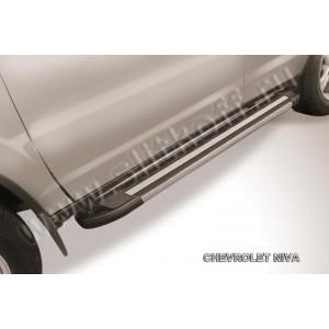 "Slitkoff AL-CHNB003 пороги алюминиевые ""Luxe Black"" черные Chevrolet Niva (Bertone)"