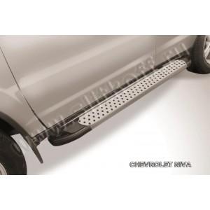 "Slitkoff AL-CHNB005 пороги алюминиевые ""Standart Silver"" Chevrolet Niva (Bertone)"