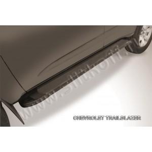 "Slitkoff AL-CHTB1201 пороги алюминиевые ""Optima Black"" Chevrolet Trailblazer"