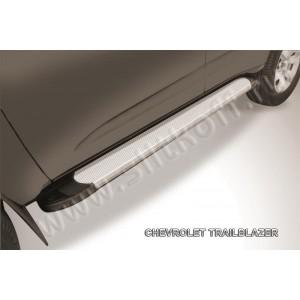 "Slitkoff AL-CHTB1202 пороги алюминиевые ""Optima Silver"" Chevrolet Trailblazer"