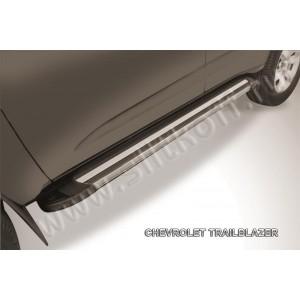 "Slitkoff AL-CHTB1203 пороги алюминиевые ""Luxe Black"" черные Chevrolet Trailblazer"