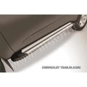 "Slitkoff AL-CHTB1204 пороги алюминиевые ""Luxe Silver"" серебристые Chevrolet Trailblazer"