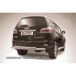 Slitkoff CHTB12-010 защита заднего бампера d76+ d57 двойная Chevrolet Trailblazer (2012)