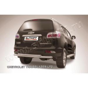 Slitkoff CHTB12-012 защита заднего бампера d57+ d42 двойная Chevrolet Trailblazer (2012)