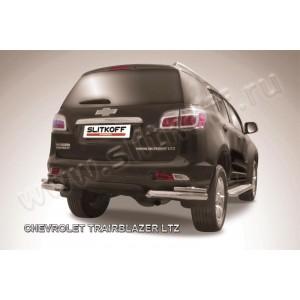Slitkoff CHTB12-014 защита заднего бампера уголки d76+ d42 двойные Chevrolet Trailblazer (2012)