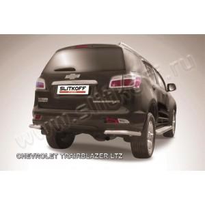 Slitkoff CHTB12-017 защита заднего бампера уголки d57 Chevrolet Trailblazer (2012)