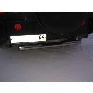 Slitkoff CT010B защита заднего бампера d76 с проступью черная Chery Tiggo