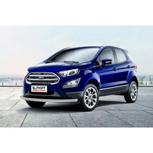 Slitkoff FES002S защита переднего бампера d57 серебристая Ford EcoSport (2017)