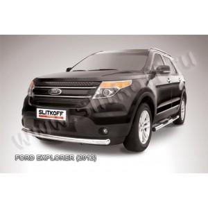 Slitkoff FEX002 защита переднего бампера d76 Ford Explorer (2012)
