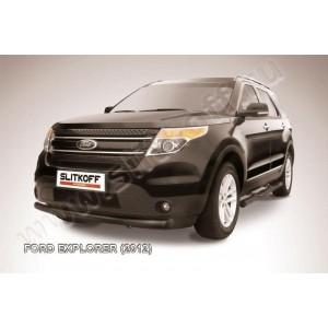 Slitkoff FEX002B защита переднего бампера d76 черная Ford Explorer (2012)