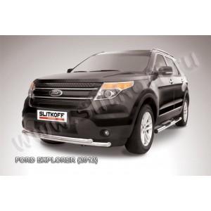 Slitkoff FEX003 защита переднего бампера d57+ d57 двойная Ford Explorer (2012)