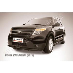 Slitkoff FEX004B защита переднего бампера d57 черная Ford Explorer (2012)