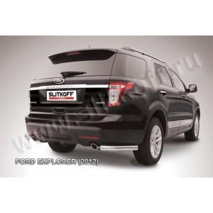 Slitkoff FEX010 защита заднего бампера уголки d76 Ford Explorer (2012)